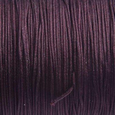 Bruin Nylon koord donker paars bruin 0.8mm - 6 meter