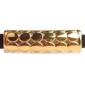 Goud Leerschuiver dots Ø5x2.5mm Goud DQ