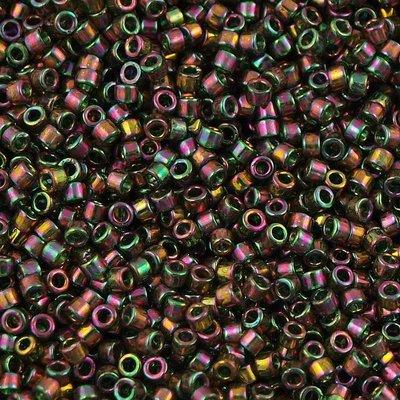 Groen Miyuki Delica Olive Gold Luster Iris 11/0 - 4gr