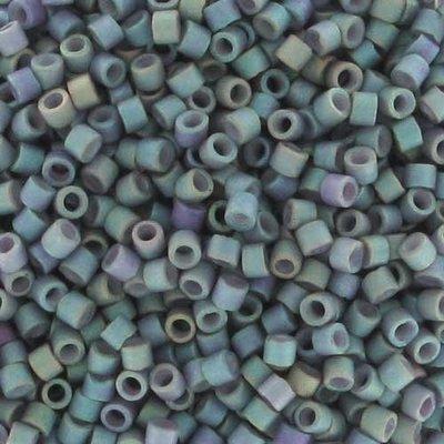 Grijs Miyuki Delcia Matte Metallic Blue Slate Ab 11/0 - 4 gram