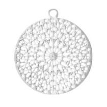 Zilver Bohemian hanger met oog Zilver 18mm