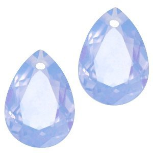Blauw Druppel hanger Sapphire Blue Opal 10x14mm