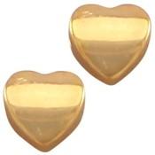 Goud Kraal hart metaal Goud DQ 8mm
