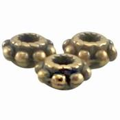 Antiek Goud Brons Kraal metaal Bali ring Brons DQ 5.5x2.8mm