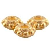 Goud Kraal metaal Bali ring Goud DQ 5.5x2.8mm