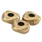 Antiek Goud Brons Kraal platte facet metaal Brons DQ 4.8x1.9mm