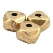 Antiek Goud Brons Kraal facet metaal Brons DQ 6.3x4.5mm
