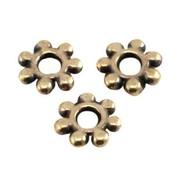 Antiek Goud Brons Kraal metaal Bali ring Brons DQ 5.6x1.4mm