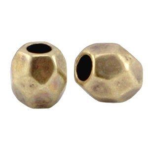 Antiek Goud Brons Kraal metaal facet rond Brons DQ 4mm