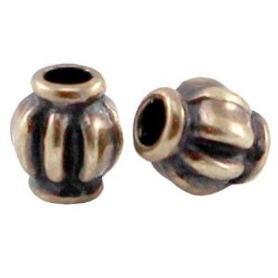 Antiek Goud Brons Kraal metaal lampion Brons DQ 4x3.5mm