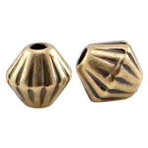 Antiek Goud Brons Kraal metaal cone Brons DQ 4mm