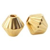 Goud Kraal cone metaal Goud DQ 4mm