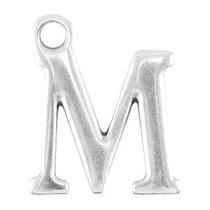 Zilver Bedel letter 'M' Zilver DQ 15x13mm