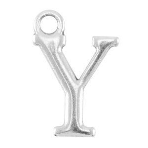 Zilver Bedel letter 'Y' Zilver DQ 15x10mm
