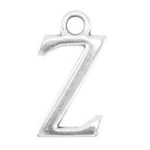 Zilver Bedel letter 'Z' Zilver DQ 16x9mm