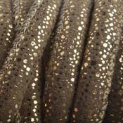 Bruin Imitatie Leer Dark Sand Gold spikkels 6x4mm - prijs per 20cm