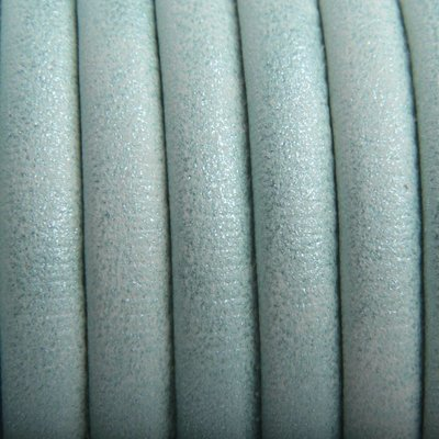 Groen Imitatie Leer Mint groen metallic 6x4mm - prijs per 20cm