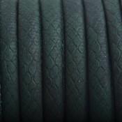 Groen Imitatie Leer Donker groen Snake 6x4mm - prijs per 20cm
