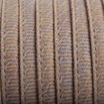 Bruin Imitatie Leer Pink Brown Gold 6x4mm - prijs per 20cm