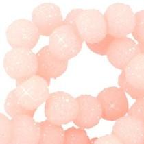Roze Sparkling beads Light rose peach 8mm - 10 stuks