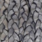Grijs Plat gevlochten leer Natural grey 10x2.5mm - prijs per 20cm