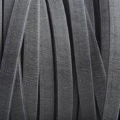 Grijs Plat leer suede grijs mat 5mm - prijs per cm