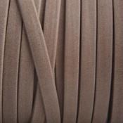 Bruin Plat leer suede beige zand mat 5mm - prijs per cm