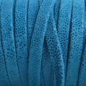 Blauw Plat nappa Leer aqua blauw mini dots 5x1.5mm - prijs per cm