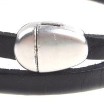 Zilver Magneetsluiting druppel Ø5x2mm Zilver DQ
