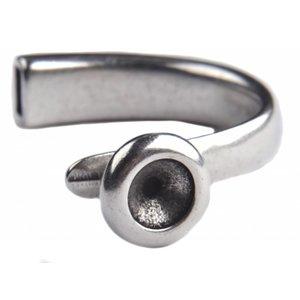 Zilver Halve Armband voor SS39 Ø8x4mm Zilver DQ