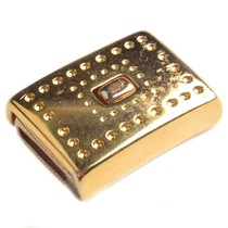 Goud Magneetsluiting dots Ø10x2mm Goud DQ