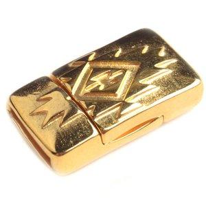 Goud Magneetsluiting aztec Ø10x2mm Goud DQ