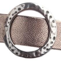 Zilver Leerschuiver cirkel L Ø20x2mm Zilver DQ