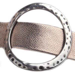 Zilver Leerschuiver cirkel XL Ø20x2mm Zilver DQ