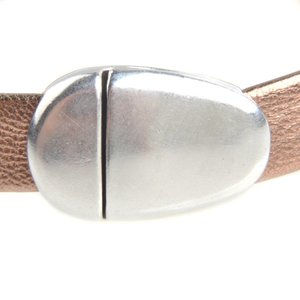 Zilver Magneetsluiting ovaal Ø10x2mm Zilver DQ