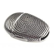 Zilver Magneetsluiting ovaal cirkels Ø10x2mm Zilver DQ