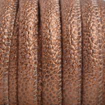 Koper Imitatie Leer Lizard copper metallic 6x4mm - prijs per 20cm
