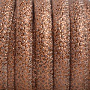 Koper Limited! Imitatie Leer Lizard copper metallic 6x4mm - prijs per 20cm