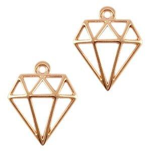 Rosegoud Bedel diamant Rosegoud DQ 18x16mm