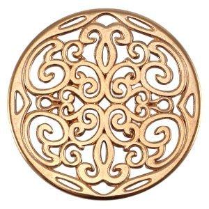 Rosegoud Bedel filigraan cirkel Rosegoud DQ 31mm