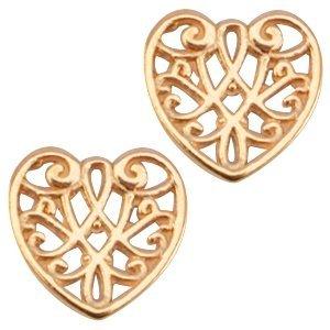 Rosegoud Bedel filigraan hart Rosegoud DQ 13mm