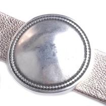 Zilver Leerschuiver rond disc Ø20x2mm Zilver DQ 36mm