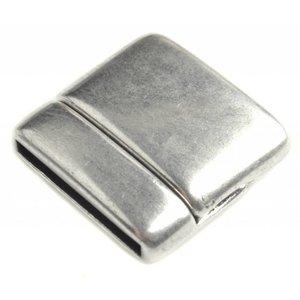 Zilver Magneetsluiting vierkant Ø15x2mm Zilver DQ