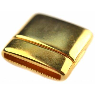 Goud Magneetsluiting vierkant Ø15x2mm Goud DQ