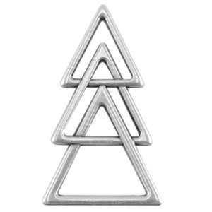 Zilver Bedel triangel Zilver DQ 45x26mm
