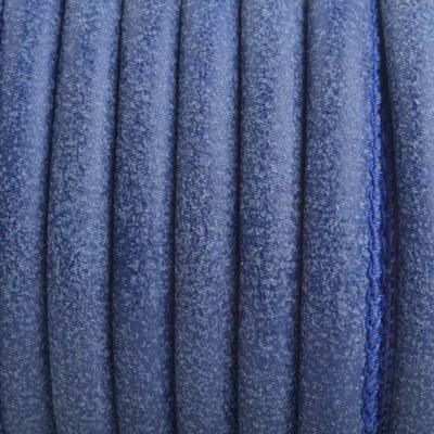 Blauw Imitatie Leer vintage blauw 6x4mm - prijs per 20cm
