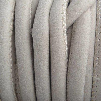 Grijs Imitatie Leer sand beige grijs 6x4mm - prijs per 20cm