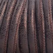 Bruin Imitatie Leer koper bruin metallic 6x4mm - prijs per 20cm