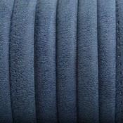 Blauw Imitatie Leer vintage donker blauw 6x4mm - prijs per 20cm