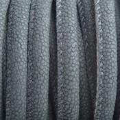 Groen Imitatie Leer grijs groen mini dots 6x4mm - prijs per 20cm